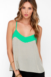THML Secret Someone Mint Print Tank Top at Lulus.com!