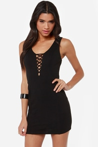 Down and Flirty Cutout Black Dress