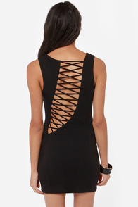 Down and Flirty Cutout Black Dress at Lulus.com!