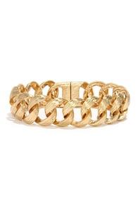 Joint Effort Gold Chain Bracelet