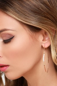Down to the Wire Gold and Pearl Earrings at Lulus.com!