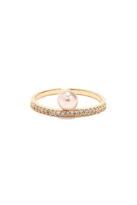 A Pearl Can Dream Gold Pearl Ring at Lulus.com!