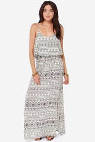 Desert Doll Ivory Print Maxi Dress