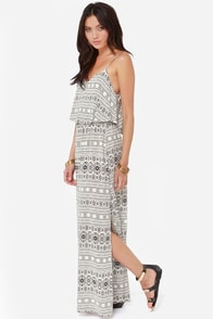 Desert Doll Ivory Print Maxi Dress at Lulus.com!