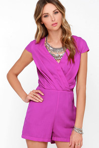 Across the Way Purple Romper at Lulus.com!