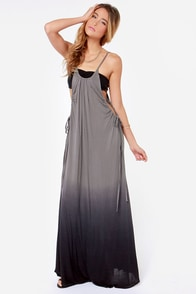 O'Neill Fadetown Grey Ombre Maxi Dress at Lulus.com!