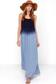Bright Night Blue Dip-Dye Maxi Dress at Lulus.com!