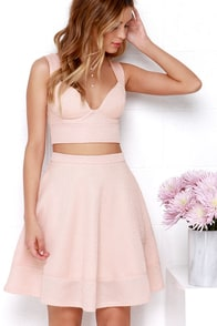 Airy Annex Blush Pink Two-Piece Dress at Lulus.com!