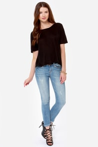 Obey Modern Lowback Backless Black Top at Lulus.com!