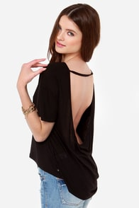 Obey Modern Lowback Backless Black Top