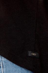 Obey Modern Lowback Backless Black Top at Lulus.com!