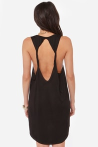 Obey Modern Rider Backless Black Dress at Lulus.com!