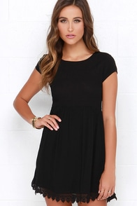 Wholehearted Black Babydoll Dress at Lulus.com!