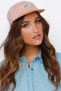 Obey Danbury Throwback Blush and Brown Hat at Lulus.com!
