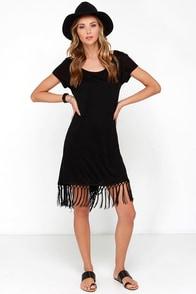 Future Memories Black Fringe Dress at Lulus.com!