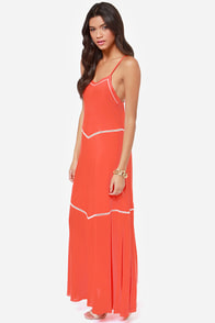 O'Neill Birdie Coral Maxi Dress at Lulus.com!