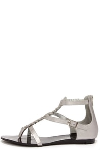 Braid and Better Silver Braided Gladiator Sandals at Lulus.com!