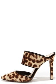 Jessica Simpson Chandra2 Leopard Pony Fur Pointed Heels at Lulus.com!