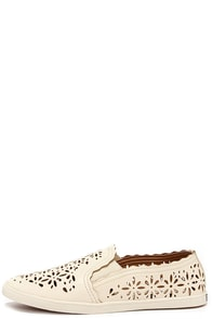 Kensie Gardenia White Cutout Slip-On Sneakers at Lulus.com!