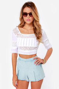 Billabong Sunset Faire White Crop Top at Lulus.com!
