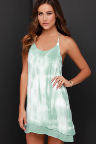 Morning Glory Mint Tie-Dye Dress at Lulus.com!