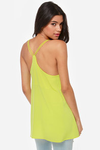 Make It Two Chartreuse Tank Top at Lulus.com!