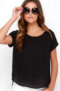 Wowee Zowee Black Top at Lulus.com!