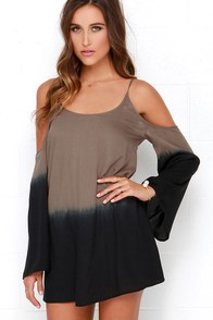 O'Neill Sun Dip Brown Off-the-Shoulder Dress at Lulus.com!