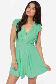 Taking Over Mint Green Dress
