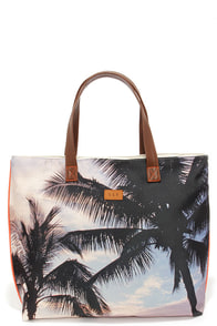 Soak Up the Sun Beige Tropical Print Tote at Lulus.com!