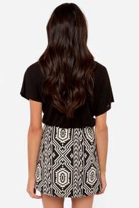 Mink Pink Pardon My Freedom Black Southwest Print Skirt at Lulus.com!