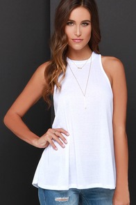 Truly Ivory Sleeveless Top at Lulus.com!