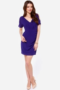 Private Party Indigo Blue Dress at Lulus.com!