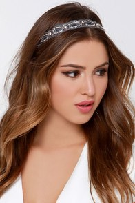Crowning Glory Blue Rhinestone Headband at Lulus.com!