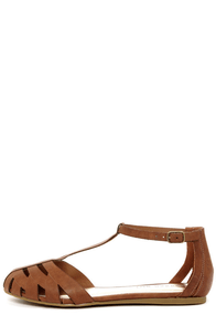 Madden Girl Stunt Cognac Sandals