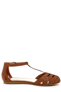 Madden Girl Stunt Cognac Sandals at Lulus.com!