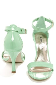 Madden Girl Darrlin Mint Patent Single Strap Heels at Lulus.com!
