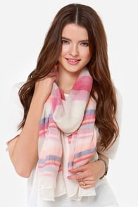 Way of Life Striped Peach Scarf at Lulus.com!