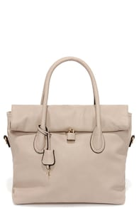 Rock and Roller Taupe Handbag