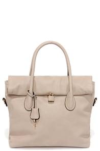 Rock and Roller Taupe Handbag at Lulus.com!