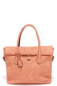 Rock and Roller Peach Handbag at Lulus.com!