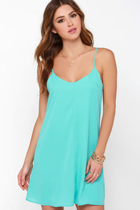 Goody Gumdrops Turquoise Slip Dress at Lulus.com!