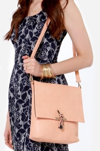 Speak Up Light Peach Purse at Lulus.com!