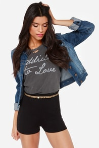 Hot Spot Black High-Waisted Shorts at Lulus.com!