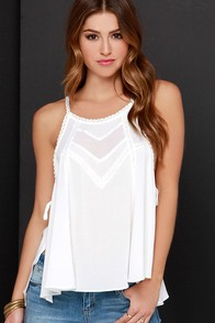 Meadowlark Ivory Lace Top at Lulus.com!