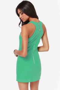 Flirty Business Cutout Green Dress at Lulus.com!