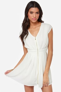 Taking Over Ivory Dress at Lulus.com!