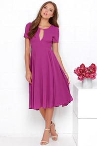 Moonlit Dance Purple Midi Dress at Lulus.com!