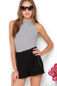 Zip the Trail Black Shorts at Lulus.com!