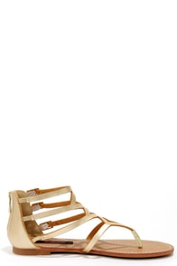 Dollhouse Athens Gold Gladiator Sandals at Lulus.com!